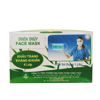 Thien Thuy Medical Face Masks 4 Filters  (1 Box/ 50 Pcs)